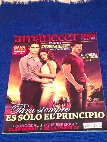 revista premier edicion especial amanecer con poster