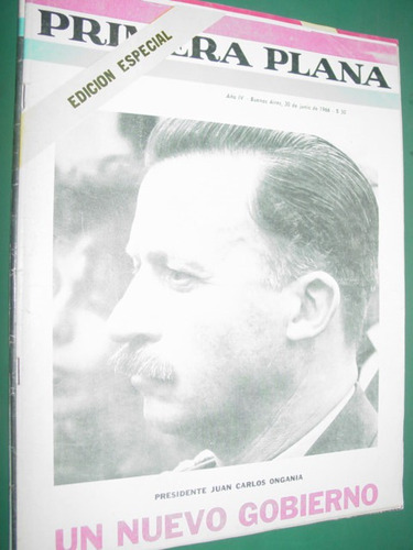 revista primera plana ongania edicion especial 16 pgs