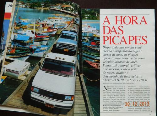 revista quatro rodas 1988 picapes del rey elba gugelmin