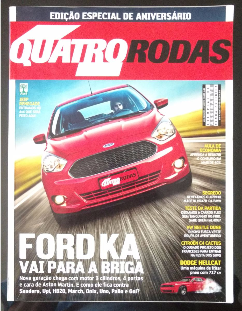 Descricao Revista Quatro Rodas No  Ford Ka