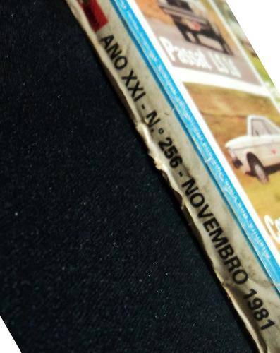 revista quatro rodas - ano xxi - nº 256 - nov 1981 raridade