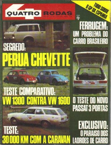 revista quatro rodas nº 190 - maio/1976 - editora abril