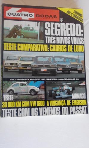 revista quatro rodas n 191 junho de 1976 - teste fusca volks