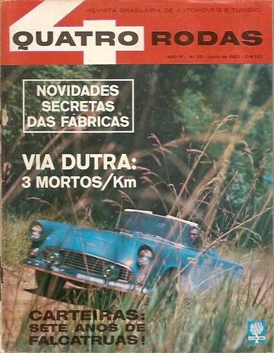 revista quatro rodas nº 35  junho de 1963 - via dutra: 3 mor