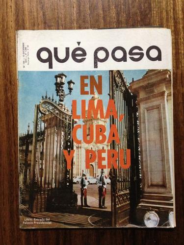 revista qué pasa, año 1974 - en lima cuba y perú