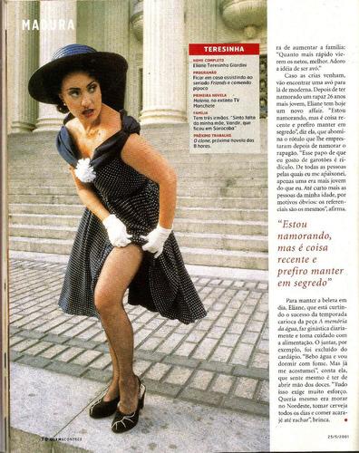 revista quem 37/2001 - ana arosio/eliana/maria fda/giardini