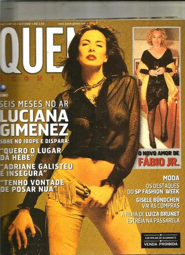 revista quem 43/2001 - lucian/eliane giardini/gretchen