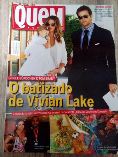 revista quem / gisele bundchen - batizado de vivian / cléo