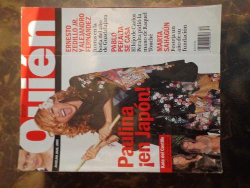 revista quien portada paulina rubio de coleccion