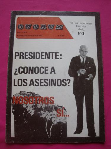 revista quorum n° 6 octubre de 1982