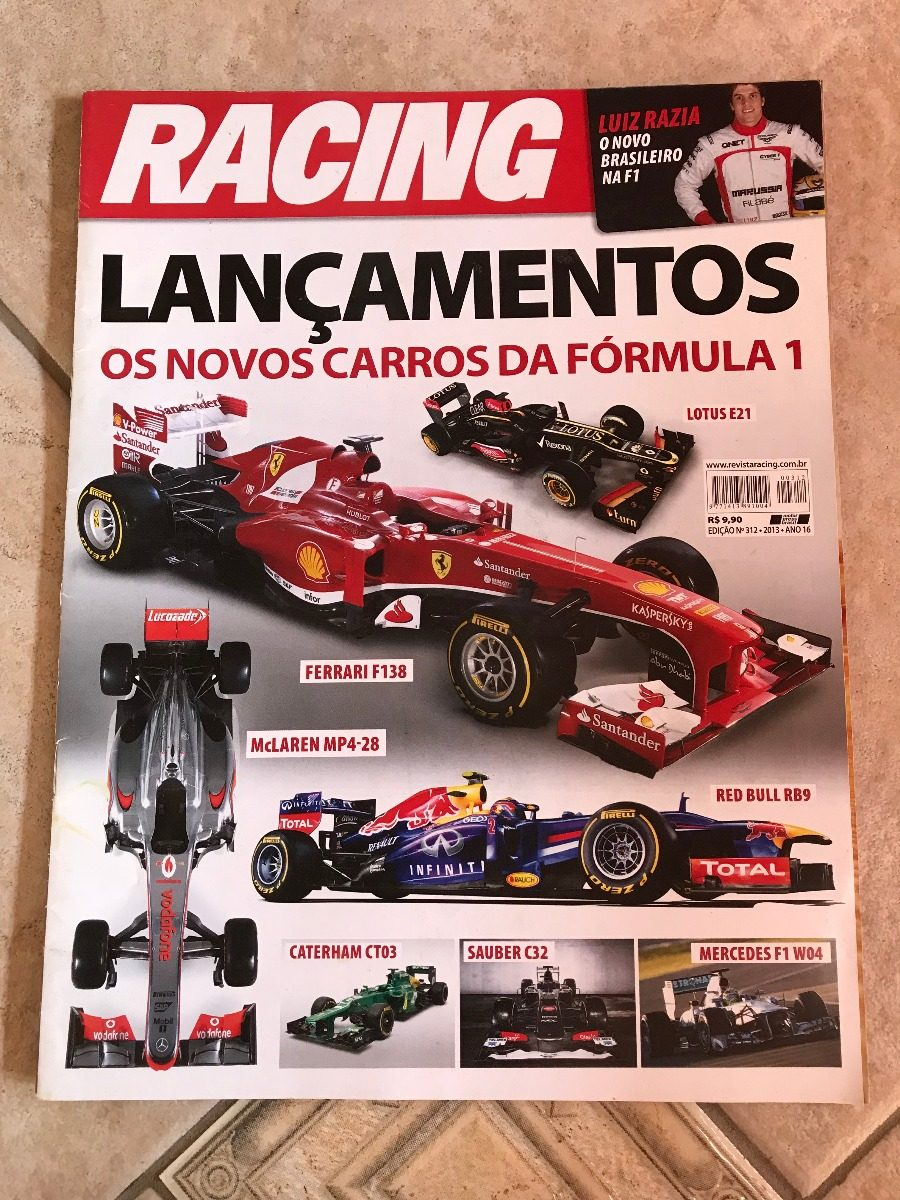 9e8e066f578d Revista Racing 312 Fórmula 1 Ferrari F138 Red Bull Rb9 - R  29
