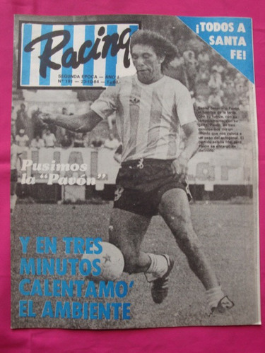 revista racing n° 191 año 1984 - racing vs estudiantes bsas