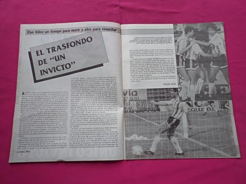 revista racing n° 502 año 1990 - velez sarsfield
