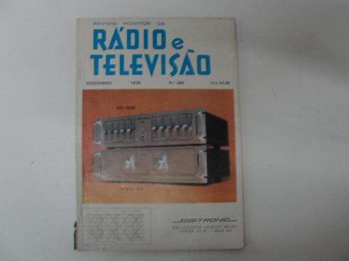 revista rádio e televisão  nr 368  de dezembro de 1978
