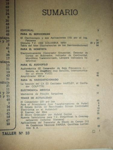 revista radio taller numero 33