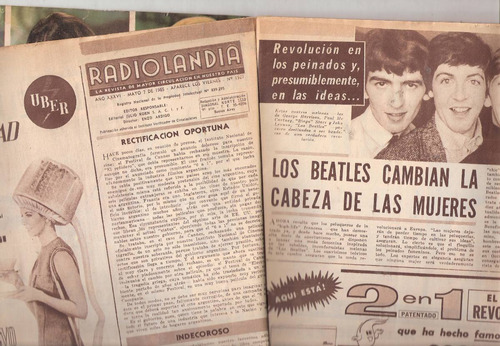 revista radiolandia 1927 beatles miss bala marinelli  canje