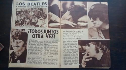 revista radiolandia con nota de los beatles