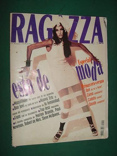 revista ragazza 41 españa 3/93 jon bon jovi maquillaje moda