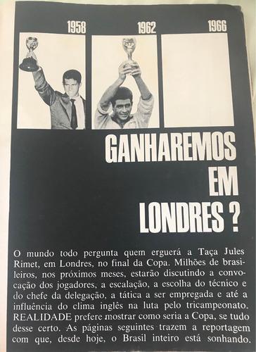 revista realidade n° 1 abril 1966 jornalismo pelé