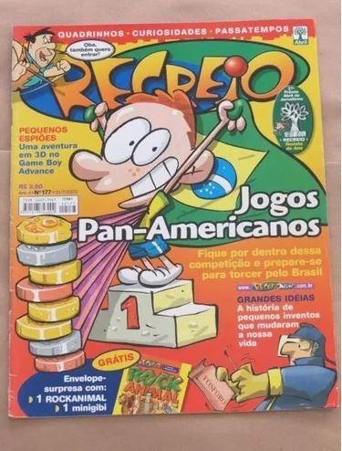 revista recreio 177 - pequenos espiões gameboy jogos pan