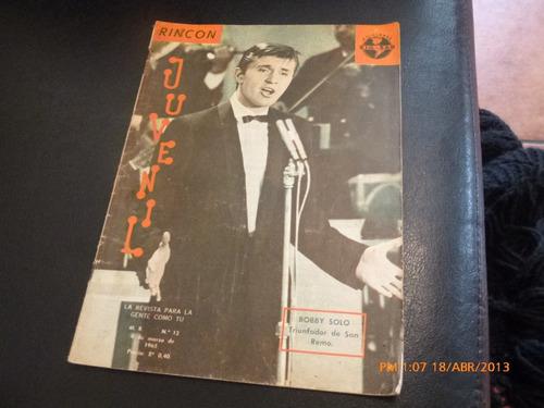 revista rincon juvenil  -  bobby solo --nº12--(w65