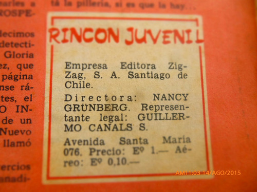 revista rincon juvenil  - n° 106 -los cuatro cuartos (286