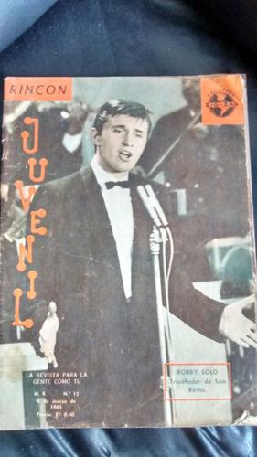 revista rincon juvenil n° 12 -bobby solo (w28