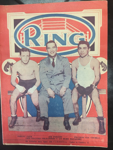 revista ring de 1937 jhony page vs frankie kid covelli unica