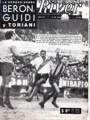 revista river argentina - año xvi n° 806 (mayo/1960)