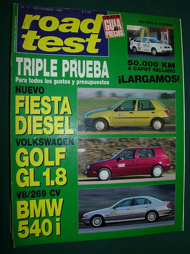 revista road test 71 vw polo diesel ford fiesta vw golf bmw