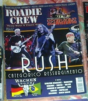 revista roadie crew - ano 11 nº 116 rush