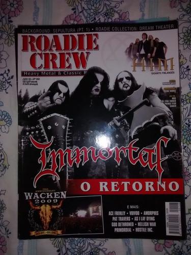 revista roadie crew - ano 12 nº 128 - immortal