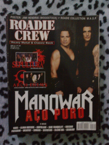 revista roadie crew - ano 12 nº 129 manowar