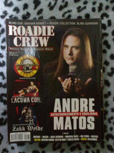 revista roadie crew - ano 12 nº 131 andré matos