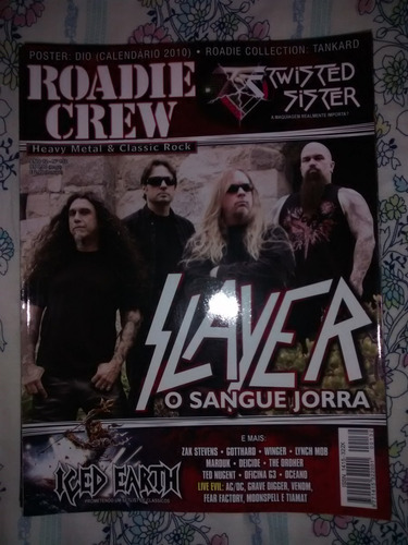 revista roadie crew - ano 12 nº 132 - slayer