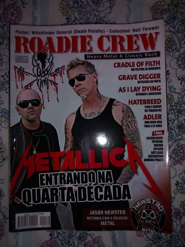 revista roadie crew - ano 15 nº 170 metallica