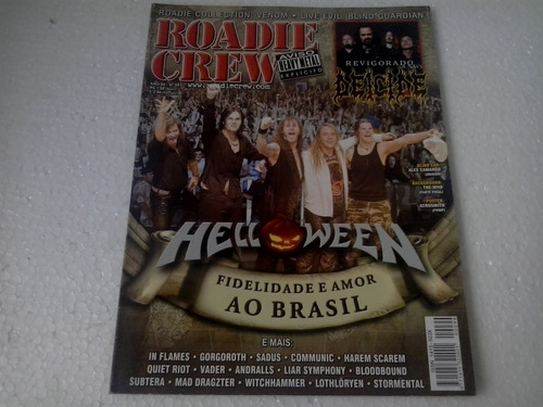 revista roadie crew n° 99 ano 09 helloween poster aerosmith