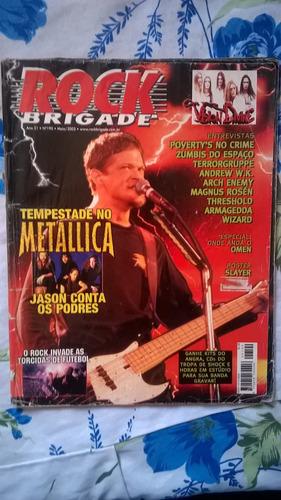 revista rock brigade 190 - metallica