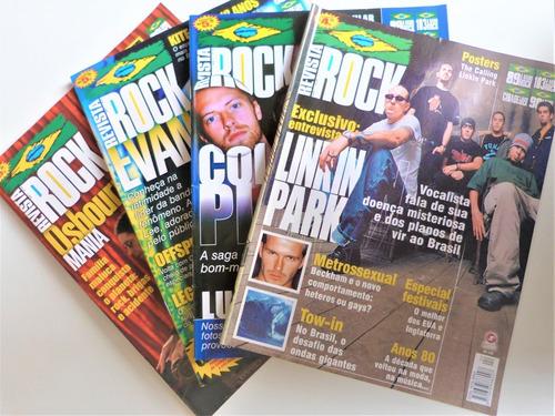 revista  rock lote n.ºs  #4 #6 #7 #8  linkin park cold play