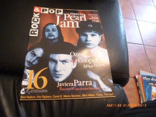 revista rock & p0p especial pearl jam  nº 16