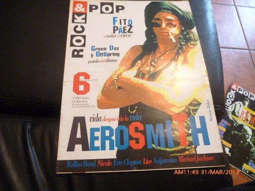revista rock & pop  aerosmith nº 6