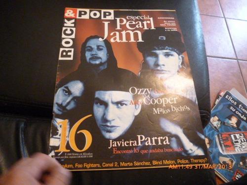 revista rock & pop  especial pearl jam   nº 16