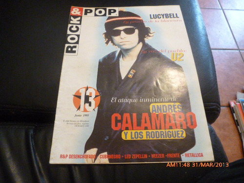 revista rock & pop    lycibell-andres calamaro n º 13 jun 95