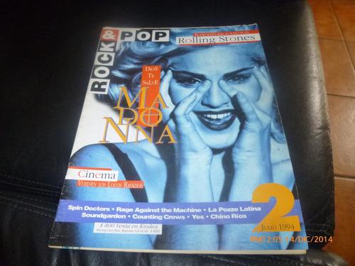revista rock & pop  madona -rolling stone n ° 2 --julio  94