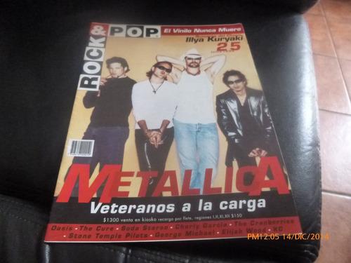 revista rock & pop   metallica n ° 25 -- junio 96