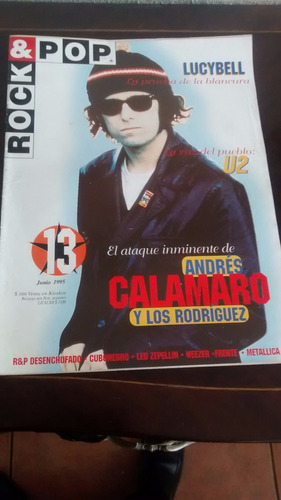 revista rock & pop  - n° 13 andres calamaro