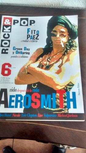 revista rock & pop  - n° 6 aerosmith