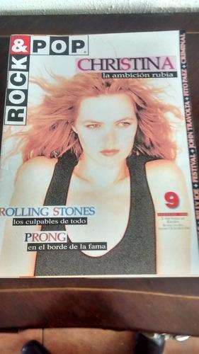 revista rock & pop  - n° 9 christina