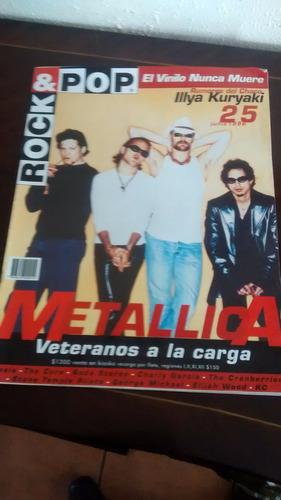revista rock & pop  - n°25 metallica