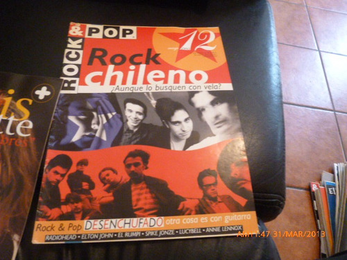 revista rock & pop  rock chileno n º 12 mayo1995
